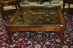 square glass top coffee table at charlies antiques in williamsburg va