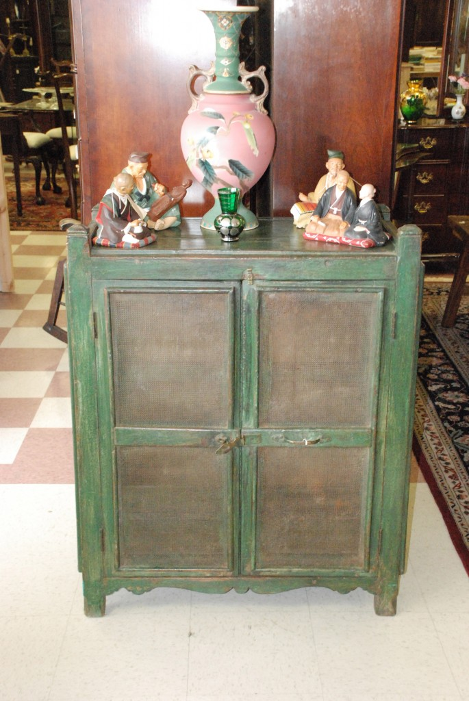 vintage green pie cabinet or jelly cabinet at char lies antiques in williamsburg va