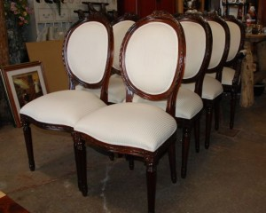mahogany hand carved french style rose carved chairs at charlies antiques in williamsburg va