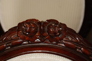 mahogany hand carved french style chairs at charlies antiques in williamsburg va
