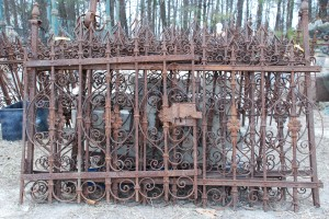 architectural antique wrought iron fencing at charlies antiques in williamsburg va