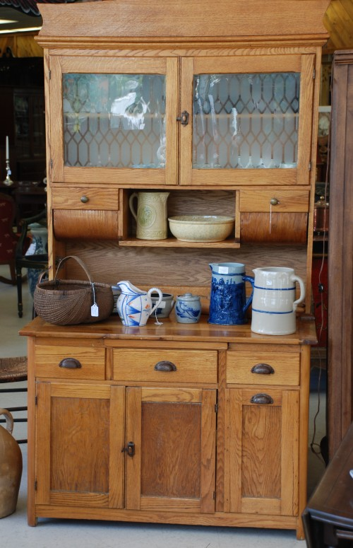 vintage oak kitchen cabinet for a country kitchen at charlies antiques in williamsburg va