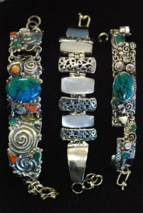 handmade sterling bracelets made in Peru at charlies antiques in williamsburg va
