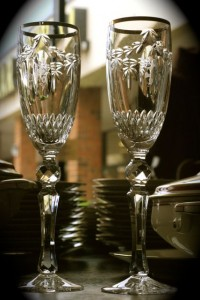 waterford goblets, crystal glasses at charlies antiques in williamsburg va