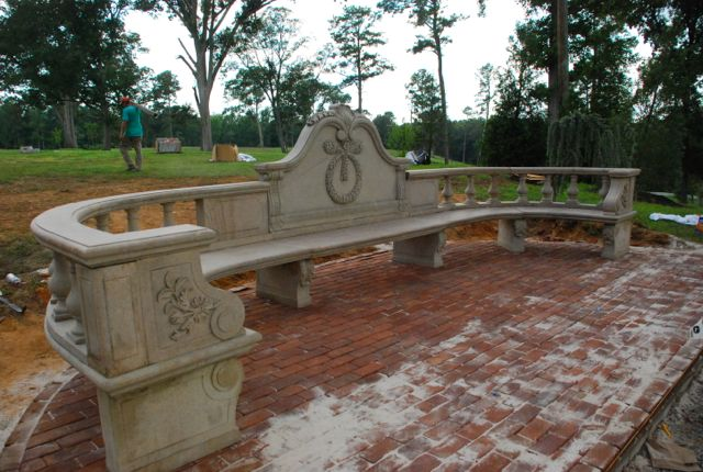 marble garden bench at charlies antiques in williamsburg va