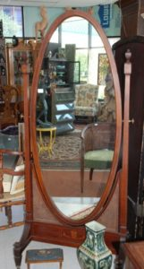 antique dressing mirror, cheval mirror