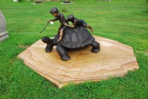 bronze statuary, bronze turtle, garden ornament