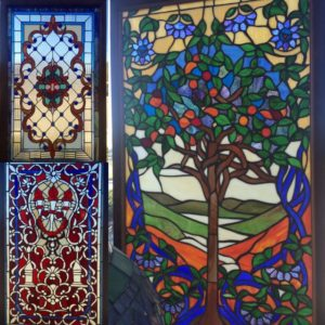 stained glass windows, colorful windows