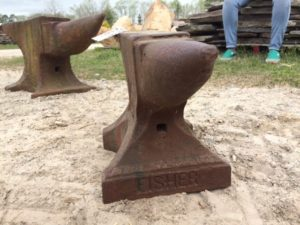 fisher anvil, iron blacksmith tool